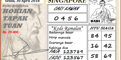 Prediksi Togel Singapura Senin 30 April 2018